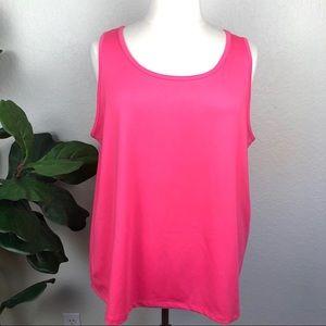 NWT Plus Maggie Barnes Essentials Pink Knit Tank